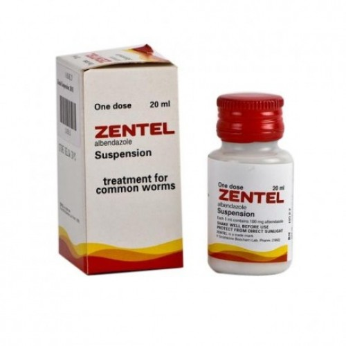 Zentel mg, comprimate filmate - Prospect Medicament - Indicatii, Administrare, Reactii adverse